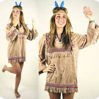 Vintage Native American Fringe Top Costume by GoodTimeIsland