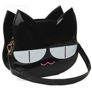 New Design Fashion Girls Cute PU Leather Cat Messenger Handbag Tote Shoulder Bag