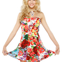 Papaya Clothing Online :: COLORFUL FLORAL FLARE DRESS