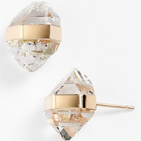 Women's Mellissa Joy Manning Stud Earrings - Herkimer Diamond/ Yellow Gold