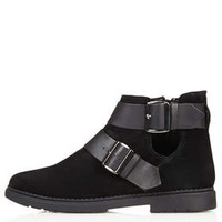 MAJESTIC Buckle Boots - Black