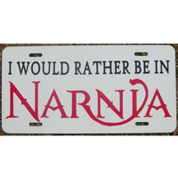 C S Lewis Chronicles of Narnia Car Tag License Plate by eaton