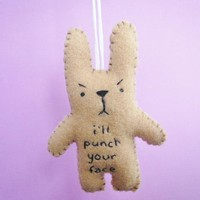 Funny Ornaments, I&#x27;ll Punch Your Face, Funny Bunny | Luulla