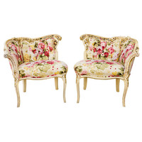 Penny Long - 1950's Rococo Revival Chairs - 1stdibs