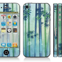 Bamboo iPhone FullCover Protection Decal iPhone Skin by GoodDecal