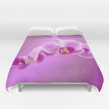 Radiant orchid photo Duvet Cover by Erika Kaisersot