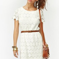 Belted Crochet Dress in Clothes Dresses at Nasty Gal