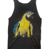 BLUE and GOLD MACAW Tank Top Animal Shirt Size S M L