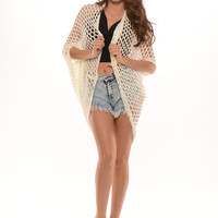 Fish Net Cardigan - Ivory | Fashion Nova