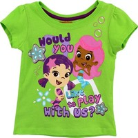 Bubble Guppies Toddler Green T-Shirt 7B7764