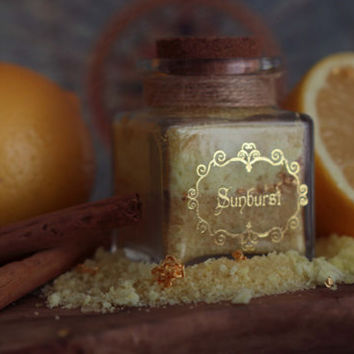LEMON Flavored Sugar -Sunburst - in a Small Apothecary Jar