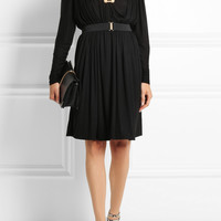 Lanvin | Pleated jersey dress | NET-A-PORTER.COM
