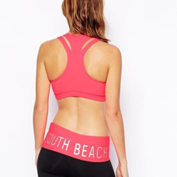 South Beach Bright Star Gym Crop Top