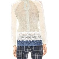 Chamisa Sweater with Lace