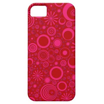 Rounds, Pink-Red iPhone 5/5s Case