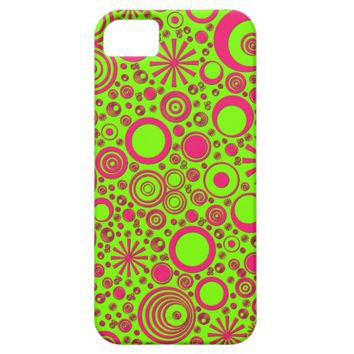 Rounds, Pink-Green iPhone 5/5s Case