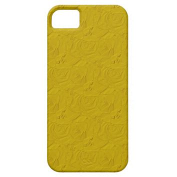 Embossed Roses Yellow iPhone 5/5s Barely There