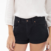Colored Cuffed Denim Shorts