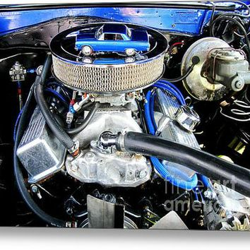 1965 Chevy Chevelle - Under The Hood Acrylic Print