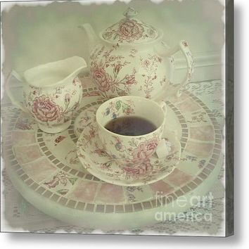 Vintage Worn Rose Chintz And Susan Acrylic Print