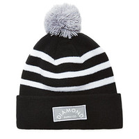 Diamond Supply Co Black Patch Pom Beanie - Mens Hats - Black - One