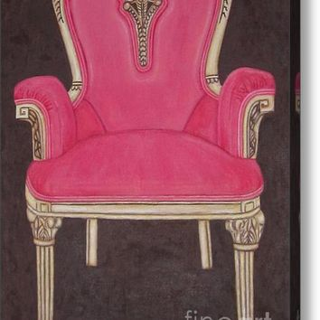 The Pink Chair Acrylic Print