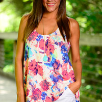 In My Dreams Tank, Pink/Blue