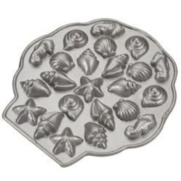 Platinum Sea Shell Tea Cakes Pan - Nordic Ware