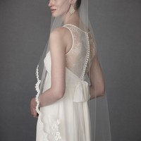 Scalloped Fingertip Veil in  the SHOP Attire Hair Adornments at BHLDN