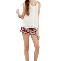 Papaya Clothing Online :: LACY BUTTONED TOP