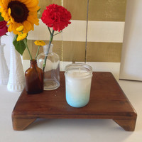 Citrus Splash Baby Blue Ombre Mason Jar Soy Candle