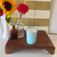 Clinique Happy Type Baby Blue Mason Jar Soy Candle