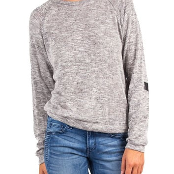 CROSS ELBOW LONG SLEEVE SWEATER TOP