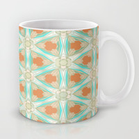 Moorish Teal Terracotta Mug by Ally Coxon | Society6