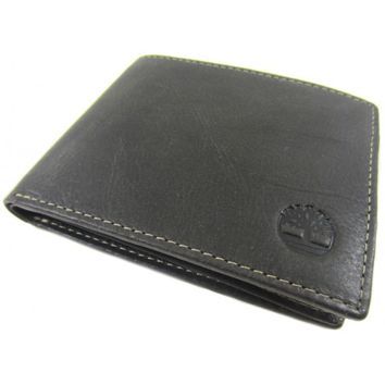 Timberland Brown Cow Crunch Passcase Wallet