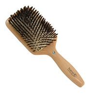 Diamond Wood Boar Bristle Square Cushion Brush