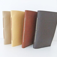 Small Leather Notebooks Set of 4 by peonyandthistle on Etsy