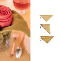 Rose napkins in Decoration and wedding indoor and outdoor details