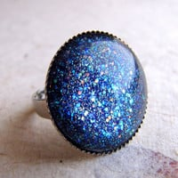 Milky Way Ring in Silver by AshleySpatula on Etsy