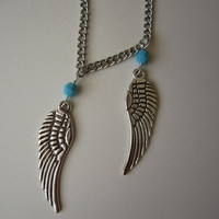 Take Flight Silver Angel Wings Necklace & by VictoryJewelry
