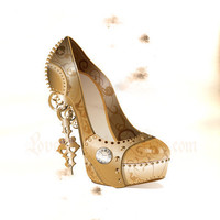 Steampunk Shoe - High Heel - Fashion Illustration by LoveLustArtKteis