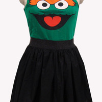 $39.99 Oscar the Grouch Inspired Full Dress by GoChaseRabbits on Etsy