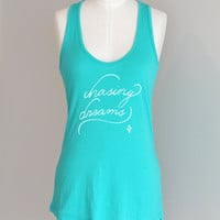 Chasing Dreams Eco Friendly Pima Modal Racerback Tank by ShopRIC