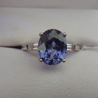 18 KT W/GOLD 3.05 ct OVAL BLUE SAPPHIRE &amp; DIAMOND RING - eBay (item 250817207605 end time Jun-07-11 14:45:16 PDT)