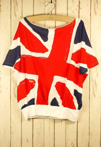 Flag Crop T-shirt - Short Sleeve - Tops - Retro, Indie and Unique Fashion