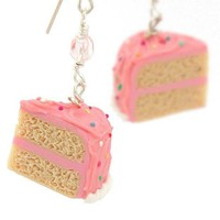 Pink Sprinkle Vanilla Cake Necklace