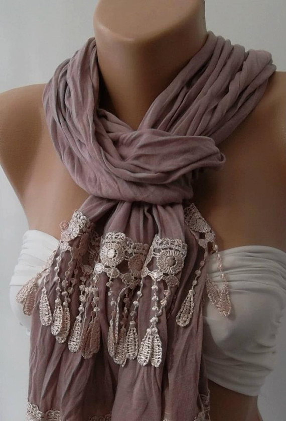 Lilac and Elegance Shawl / Scarf by womann on Etsy