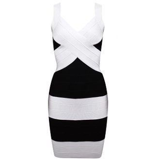 Black and White Bandage Dress