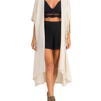 Short Sleeve Gauze Cardigan