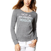 Not A Morning Person Long-Sleeve Top